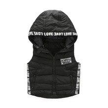 Boys autumn and winter vest 2016 new Slim hooded cotton vest vogue Camouflage print Kidss fashions down vest waistcoat vest
