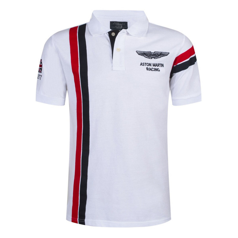 2019 New Fashion Casual Brand Mens Summer Cotton Short Sleeve Army Air Force One   Polo   Shirt Men High-quality Men Clothing