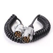 Connecteurs de remorque 7Pin avec fil spiralé 2.5 M Type N fiche de remorque 7 broches 12 V avec câble