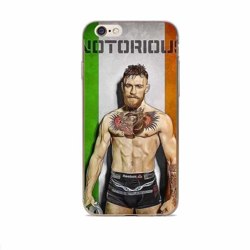 Новый MMA King Конор McGregor жесткий пластиковый чехол Чехол для iPhone 7 плюс 6 S 5 5S SE 8 8 X Coque