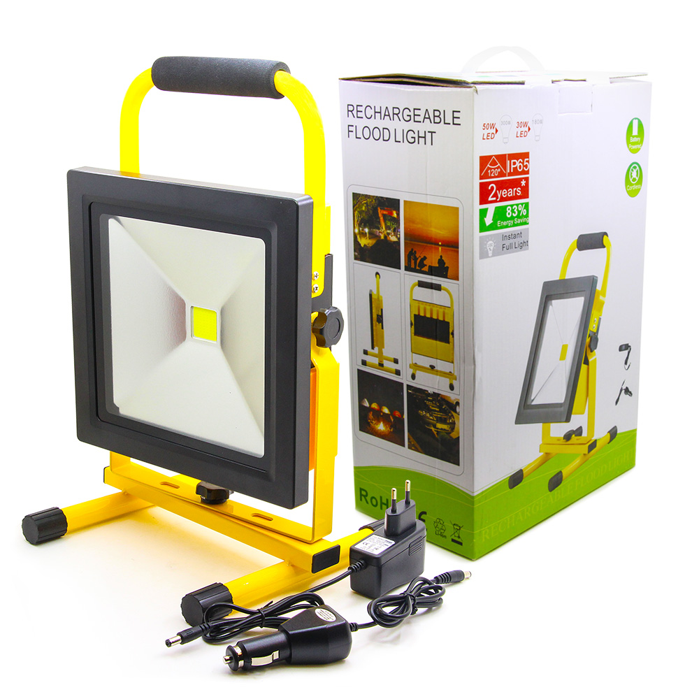 Slim 30W COB Compact Portable Flood Light LED Work Lights Outdoor Emergency Light for Camping Hiking Fishing IP65 Tacklife Work 13w running time12hours ip65 white constand and red flash portable light emergency light led flood light camping light