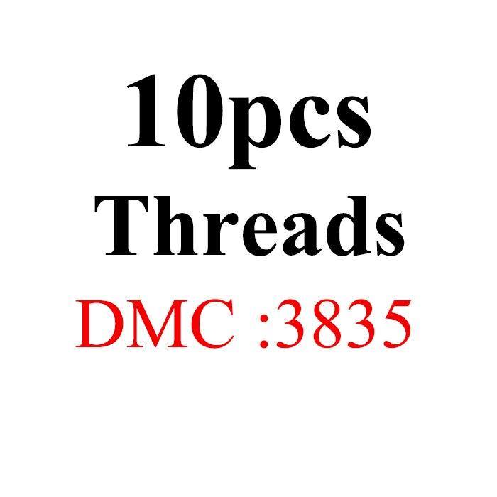 Snowlover, рукоделие, 10 шт./лот, 1,2 м, разные цвета, DMC3824-3848, вышивка крестиком, хлопковое шитье, моток пряжи, нить для вышивки - Цвет: 1.2mthread-DMC3835