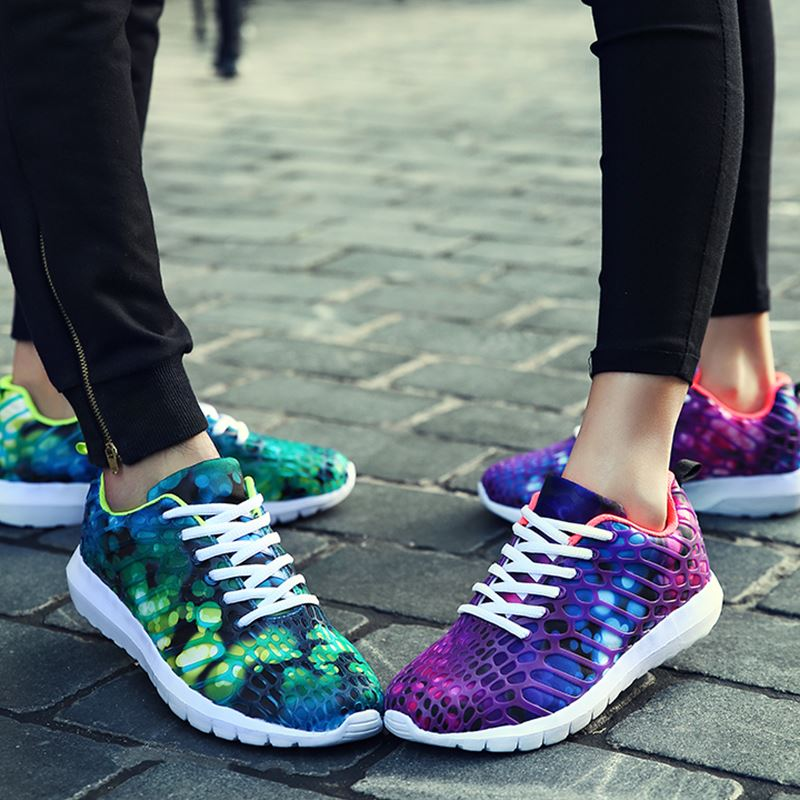 women Casual Shoes Fashion Flat Shoes For Adults Trainers Summer Breathable Light Soft lightweight Shoes