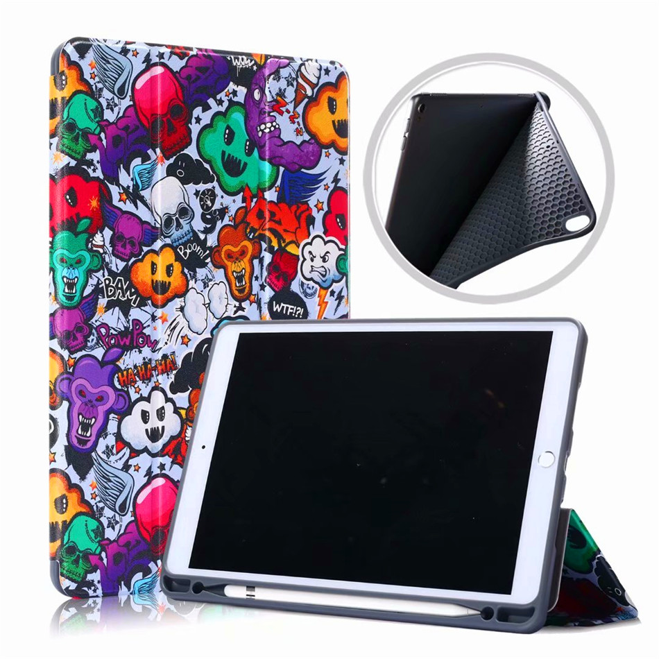 Case For iPad Air 3 2019 10.5 Stand Silicon Cover For iPad pro 10.5 2017 Smart Cover With Pencil Holder +Screen protector+penTablets & e-Books Case   -