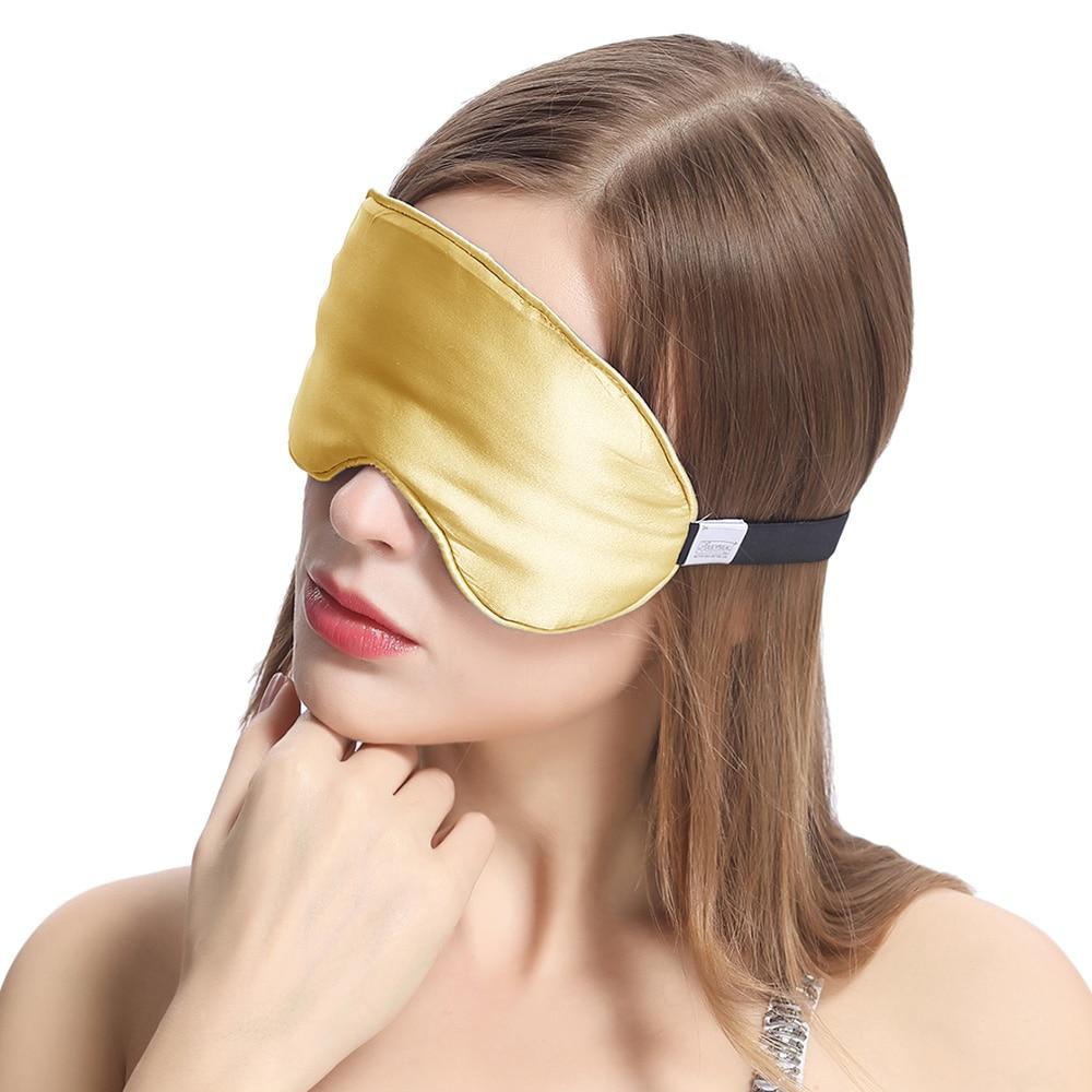 Шелковая маска для сна с широкой резинкой