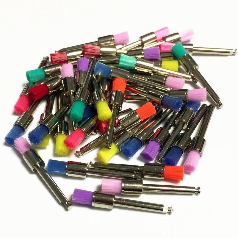 50 laboratorio dental pcs saco nylon trava pequena plano polimento polidor profilaxia escovas dentista produtos 0