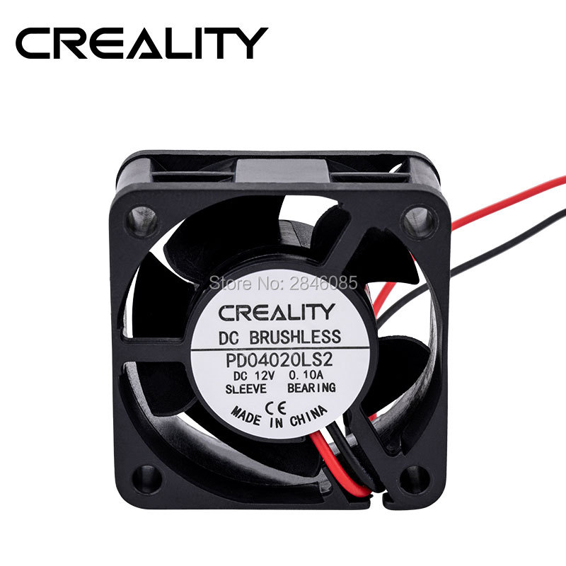 Factory Supply Creality 3D Printer Parts CR-10 4020 Back Mainboard Fan 4020 12V DC Cooler Small Cooling Fan