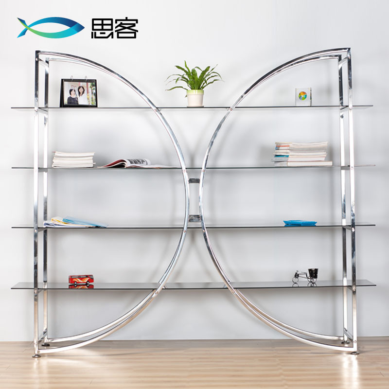 Simple stainless steel tempered glass shelves off thinking big ...