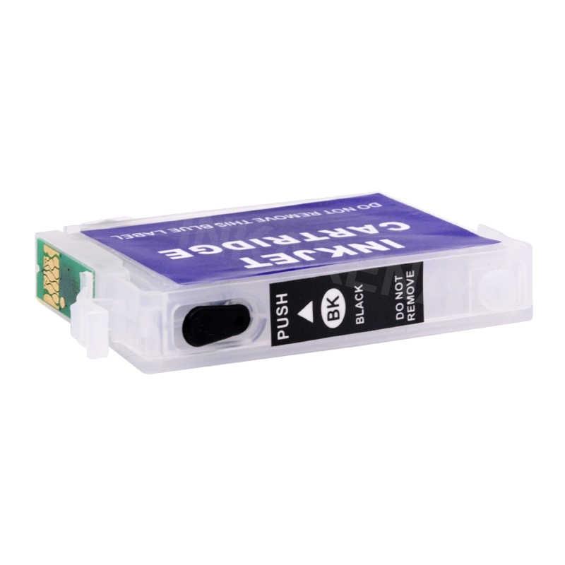 EPSON için doldurulabilir Mürekkep Kartuşu T26 T27 TX106 TX109 TX117 TX119 C51 C91 CX4300 Yazıcı T0921 921N 92n Dolum Mürekkep çip ile