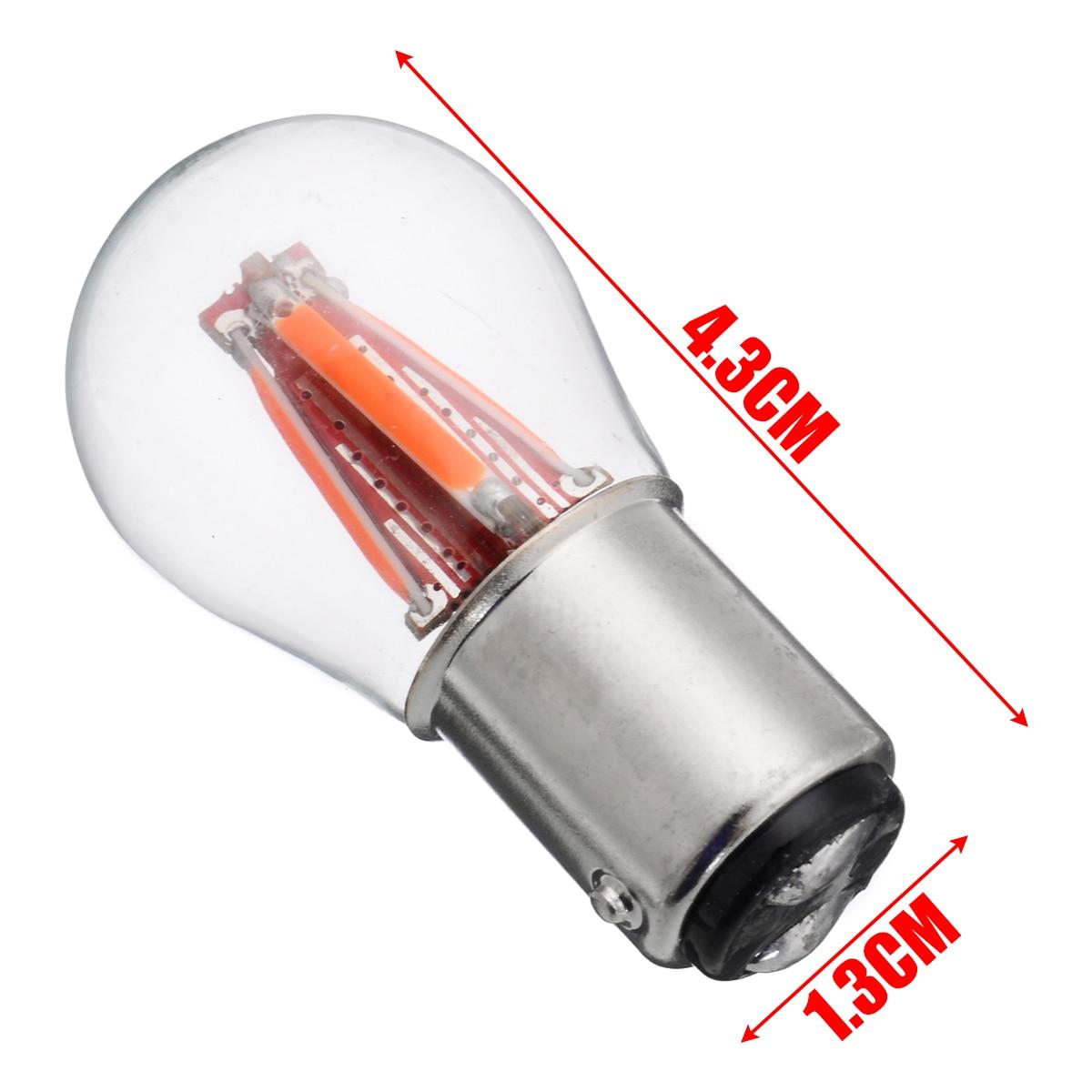Mayitr 2pcs/set Red 12V/24V 4LED 1157 BAY15D 21/5W Car Reverse Backup Tail Stop Brake Light Bulb Car Styling