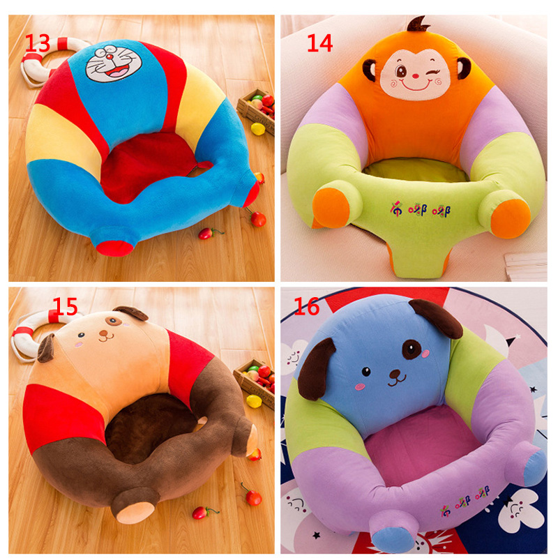 Baby Plush Support Seat Soft Sofa Infant Learning To Sit Chair Keep Sitting Sofa baby infant high chair seat cover mat waterproof feeding eating place mat