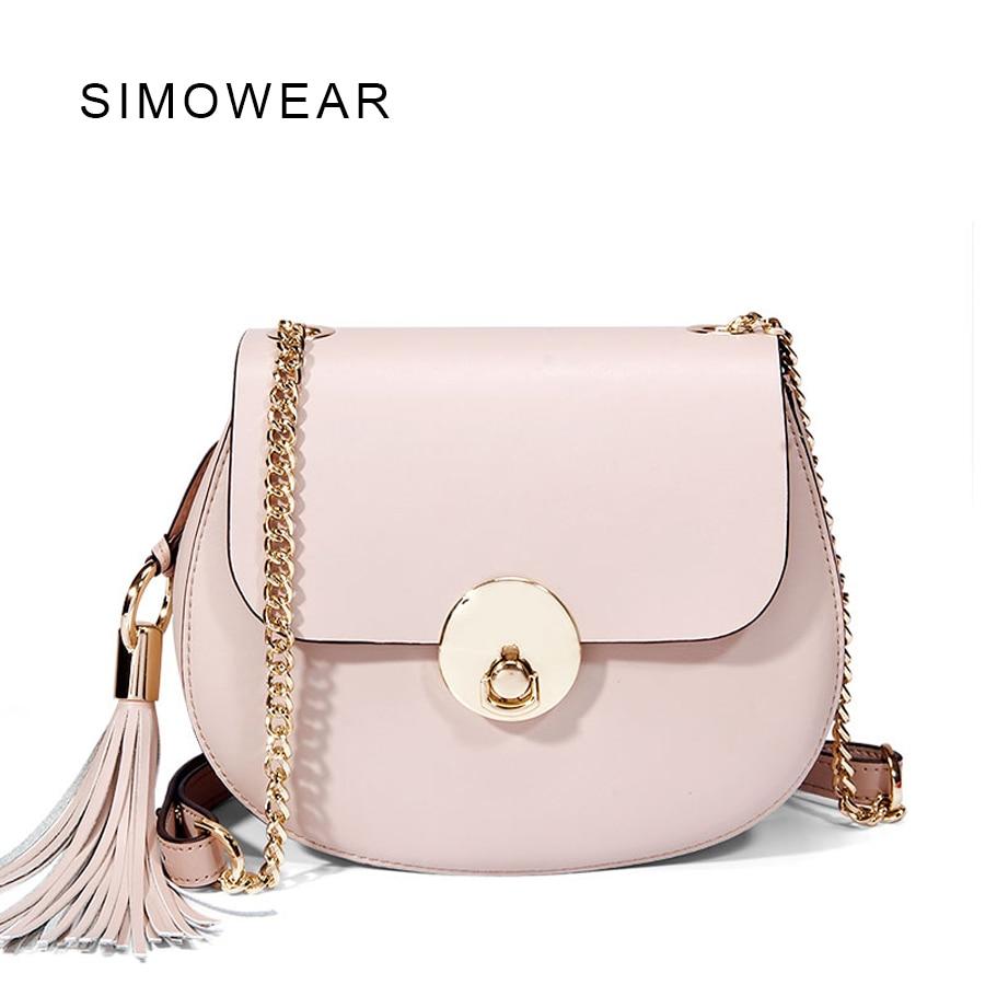 2016 Calfskin Leather Handtassen Kleine Chili Pig Shoulder Bag Vrouwen Messenger Bags Women s Cloe Chain