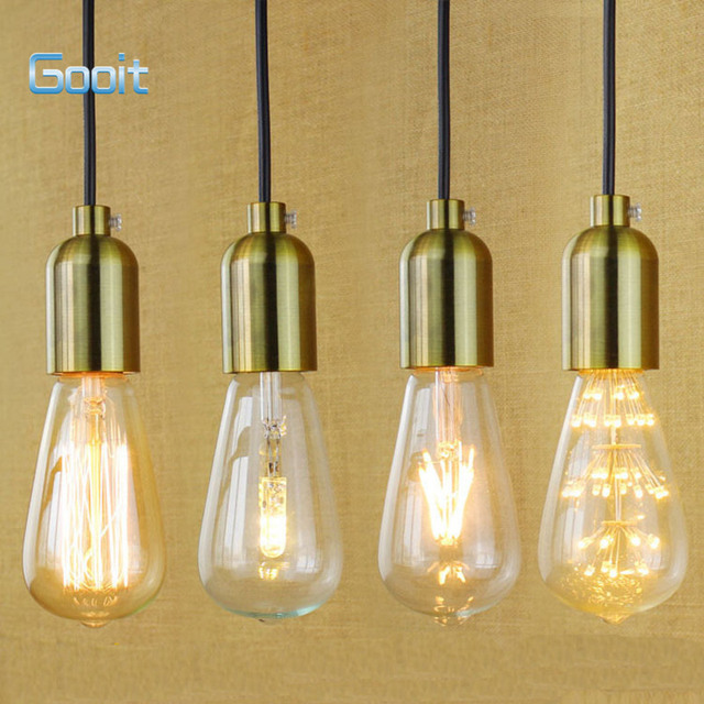 E27 pendant lamp holder gold bronze modern simple vintage bubs light e27 pendant lamp holder gold bronze modern simple vintage bubs light socket with 1m wire 90v greentooth Image collections
