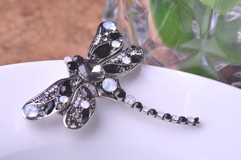 8a8d98291 Blucome Green Dragonfly Brooches Corsages Jewelry Shining Crystal ...