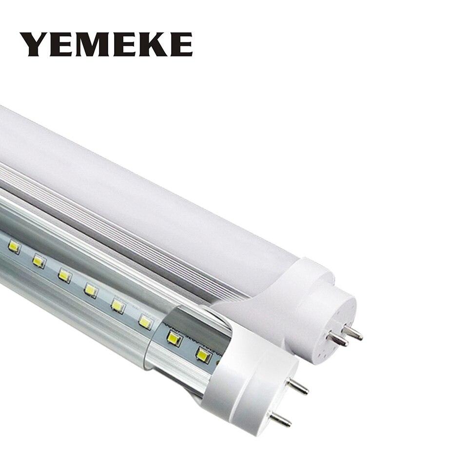 G13 led tube bulb t8 1200mm fluorescent tubes light super bright 20w 4ft led lighting fixtures lamp ac85 265v led bulb for home