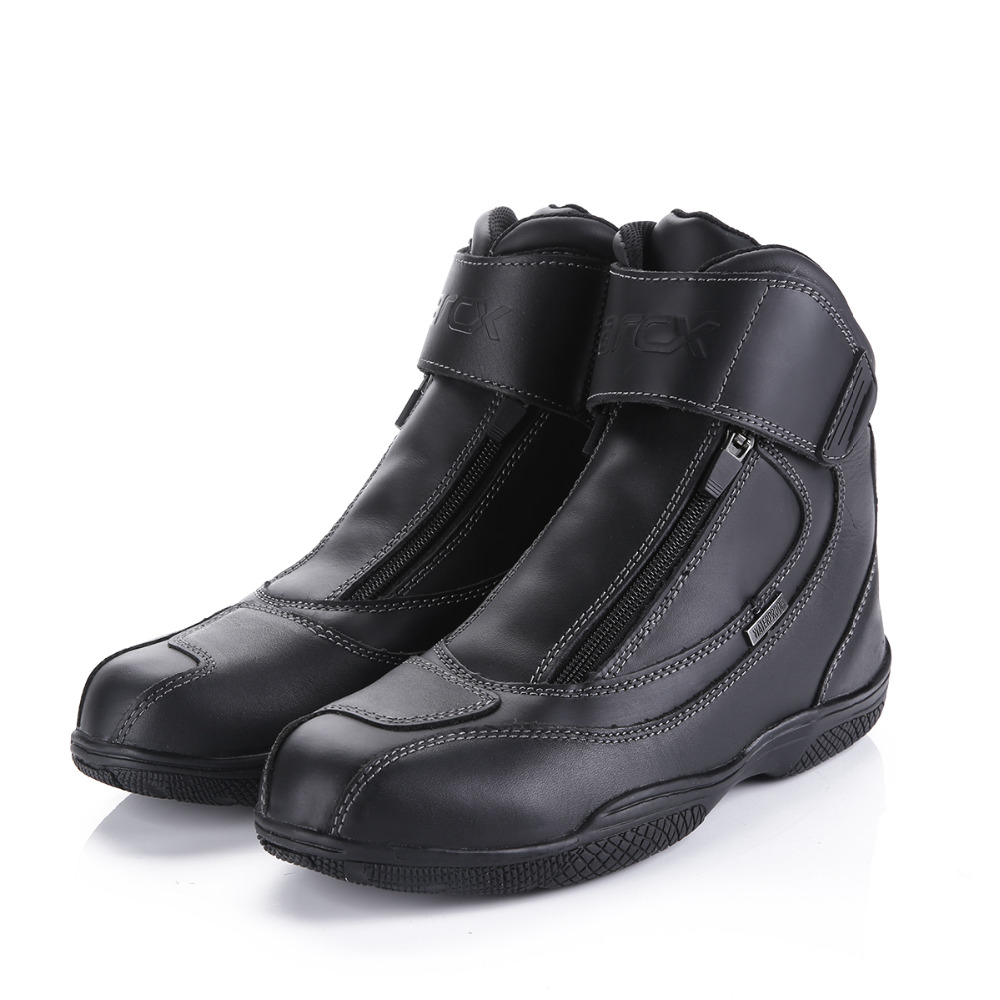 Motorcycle Boots Genuine Cow Leather Waterproof Anti skid Fashion Design Moto Racing Boots Motorbike Touring Riding