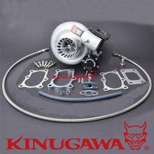 Kinugawa Billet Turbocharger 3 TD05H-18G Nissan TD42 Patrol w/ T3/8cm/V-Band #301-02001-317 turbo manifold turbocharger kit for nissan safari patrol 4 2l td42 gq gu y60 t3 t4 t3t4 to4e 63 a r oil line turbocompresor