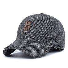 [AETRENDS] Woolen Knitted Design Winter Baseball Cap Men Thicken Warm Hats with Earflaps Z-5000