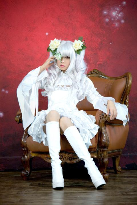 Anime Rozen Maiden Cosplay Rozen Maiden Cosplay Kirakishou Women's Partycosplay  Costume white dress for Halloween Freeshipping
