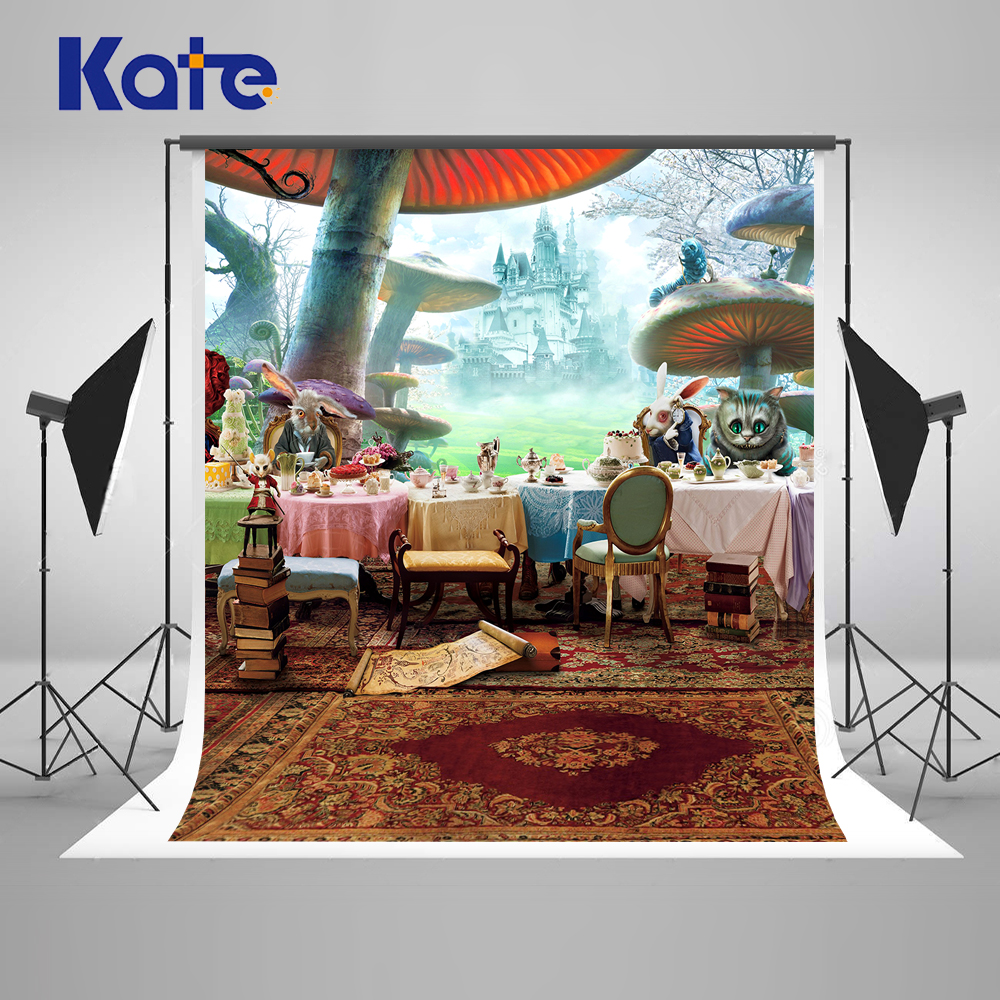 Kate Cartoon Wedding Photograph Backgrounds Cartoon children Backdrops Mushroom Forest Carpet Cat On The Table For A Photo Shoot wild edible mushroom in forest ecosystem