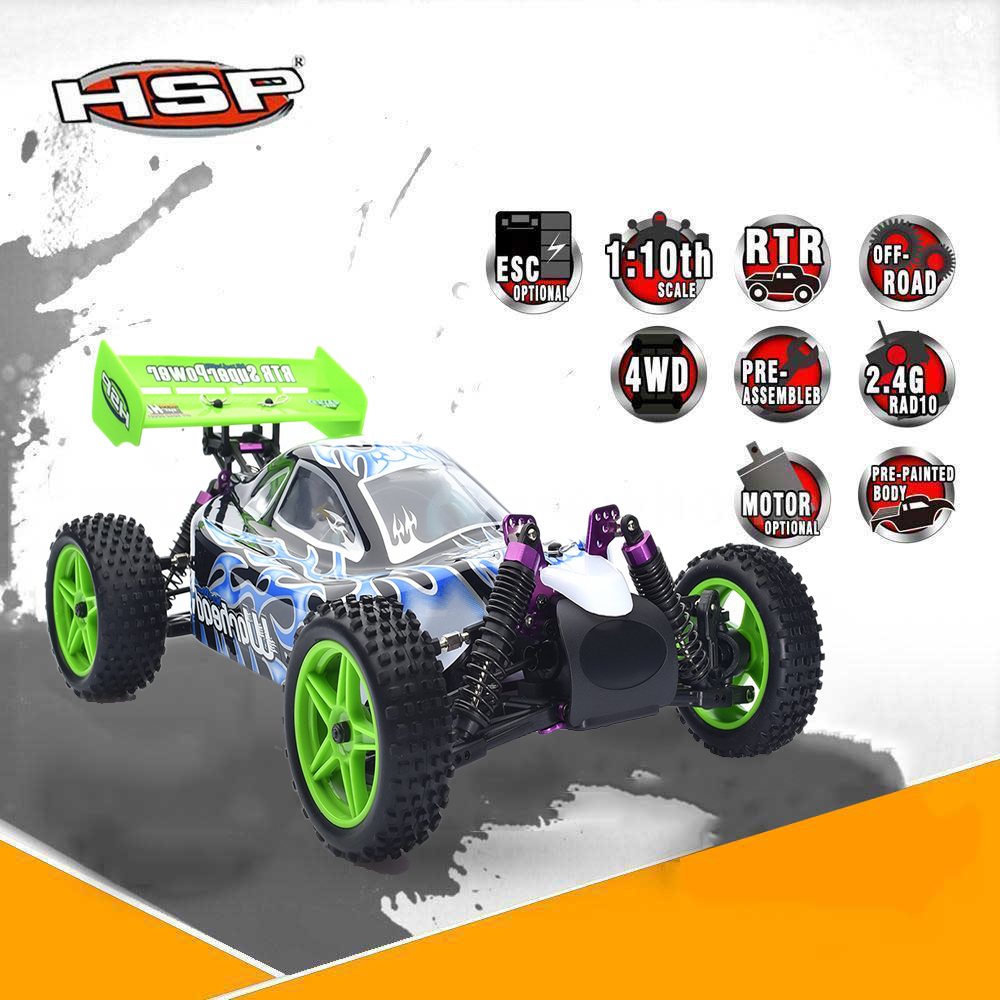 HSP 94106 RC Racing Car 1/10 Scale Nitro Power 4wd Off Road Buggy Remote Control Car High Speed Hobby Drift Cars Gift for Boy