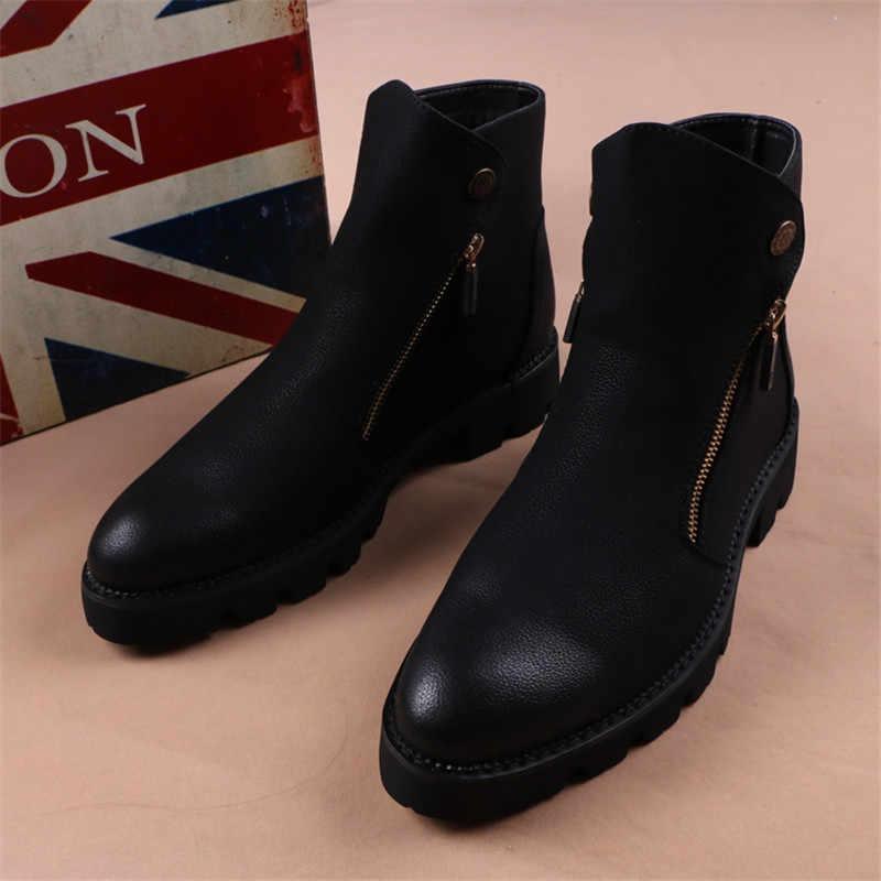 Nieuwe Botas Hombre Militaire Laarzen Mode Mannelijke Merk Leather Slip Ons Schoenen Motorfiets Veiligheid Schoenen Man Warme Laarzen Mannen Werken schoenen