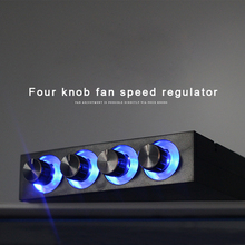 NEW  3.5inch PC HDD CPU 4 Channel Fan Speed Controller Led Cooling Front Panel For Computer Fans цена