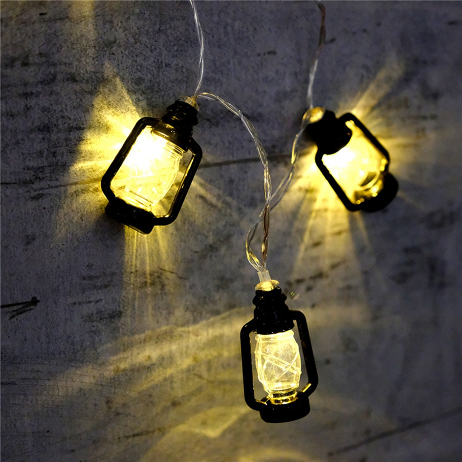 YINGTOUMANT 10pcs/lot Mini Lantern Lamp Battery String Light Christmas Wedding Party Festival Decoration Lights 1m 10LED