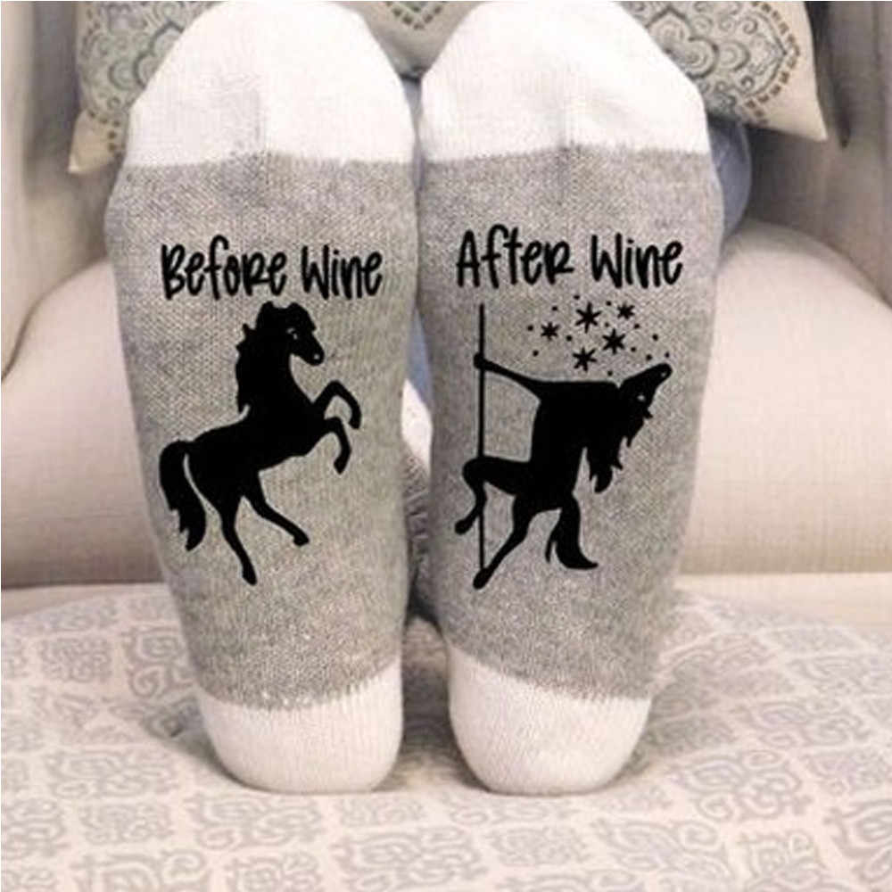 1PCS Cotton Socks Letter After Wine fashion hiphop style socks skateboard sport Animal student funny Solid Socks For Men Women