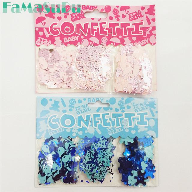 1 Set Its A Boy/Its A Girl Confetti Baby Party Confetti Table Sprinkles Baby