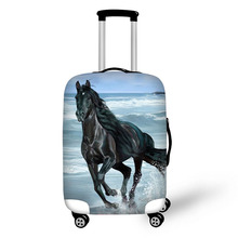 Travel Accessories Suitcase Protective Covers 18-32 Inch Elastic Luggage Dust Cover Case Stretchable Animal 3D Horse Pattern