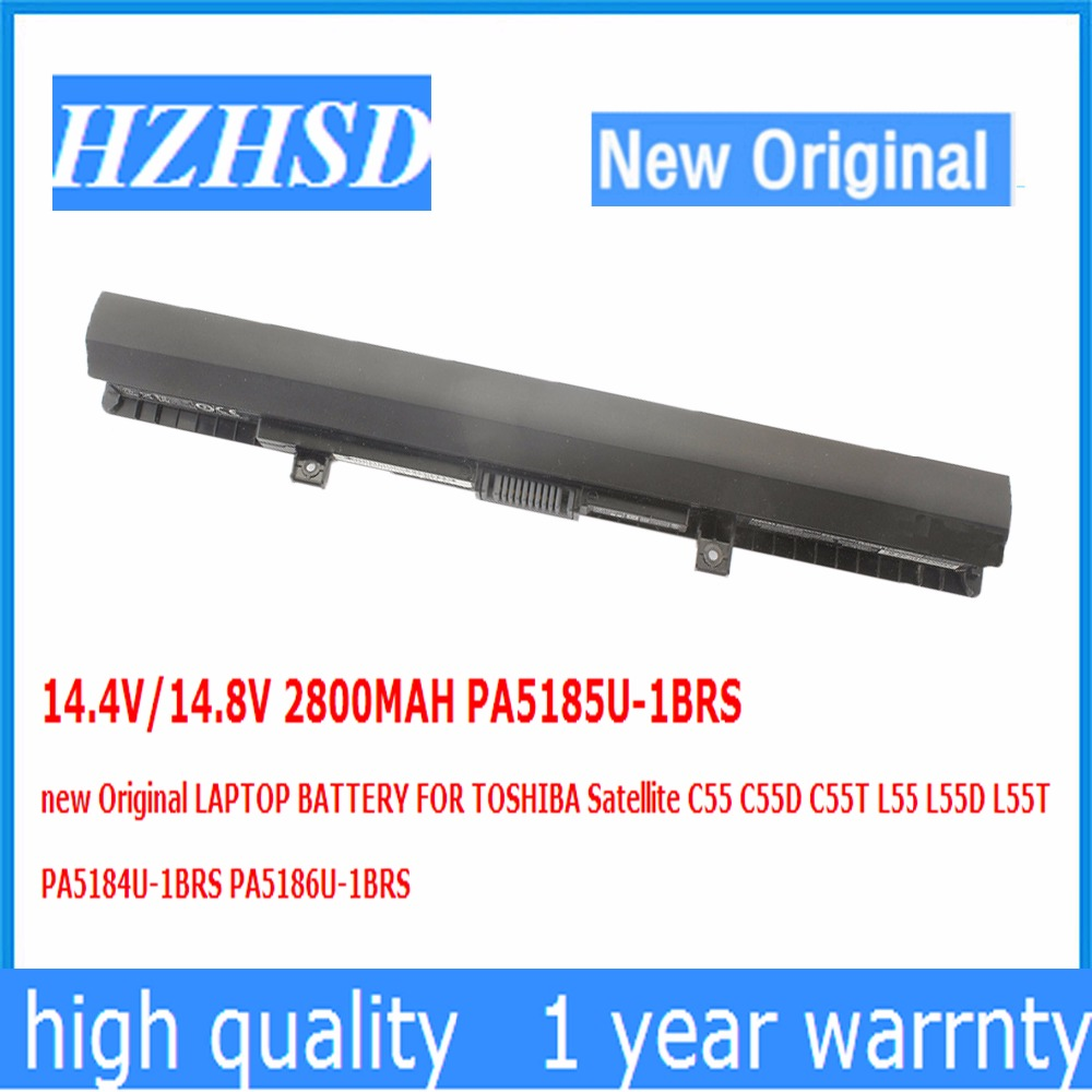 14.4V/14.8V 2800MAH PA5185U-1BRS new Original LAPTOP BATTERY FOR TOSHIBA C55 C55D C55T L55 L55D L55T PA5184U-1BRS PA5186U-1BRS free shipping v000325140 for toshiba satellite c55 c55d c55t c55dt c55t a laptop motherboard all functions 100