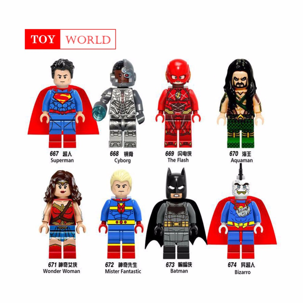 New Legoing Marvel Super Heroes Avengers Wonder Woman Guardians of the Galaxy Batman X man flash DC Building Blocks Toys Figures