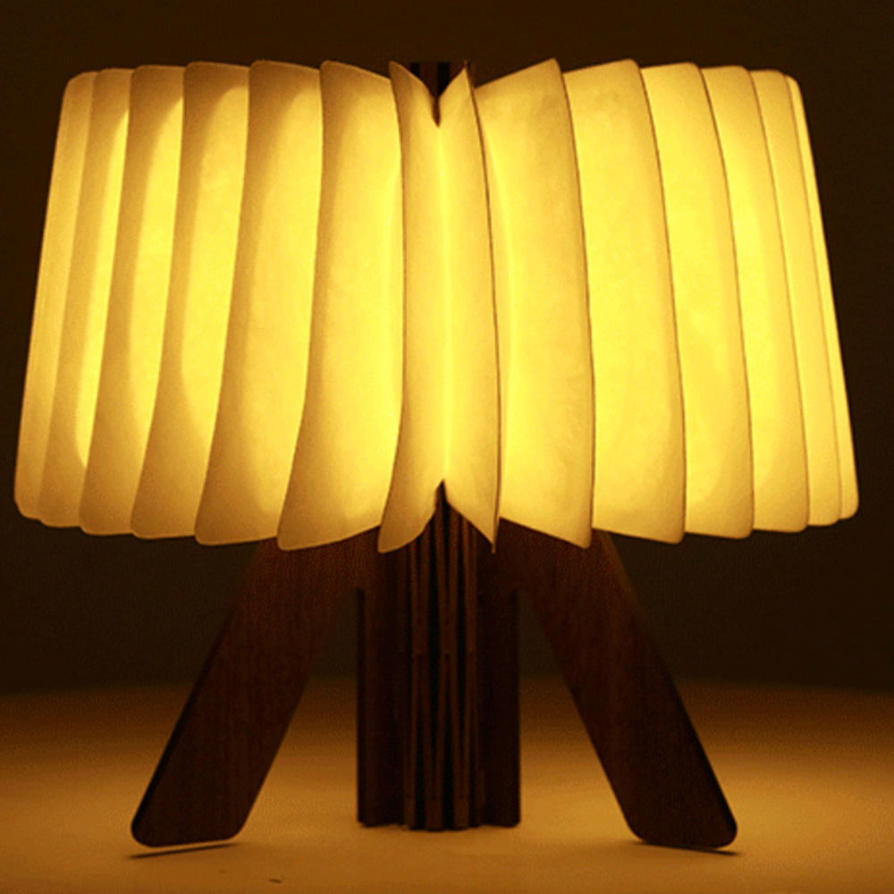 USB Rechargeable LED Folding Wooden Book Desk Lamp Portable Book Light R Shape Night Light Book Light for Home Table Decoration usb rechargeable led foldable wooden book shape desk lamp nightlight booklight for home decoration