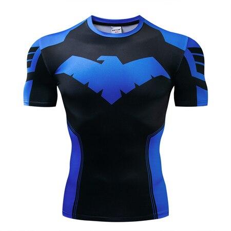 Мстители эндгейм футболка Квантовая царство компрессионная с коротким рукавом для мужчин тренажерный зал Спорт Фитнес окрашенные футболки спортивная одежда для мужчин - Цвет: DX-050