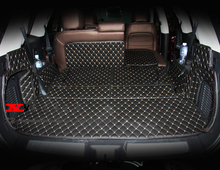 Gut! spezielle kofferraum-matten für Nissan Pathfinder R52 7 sitze 2017-2013 wasserdicht boot teppiche für Pathfinder 2016, Freies verschiffen