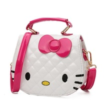 07053d96fc NEW Baby Girls Mini Messenger Bag Children Hello Kitty Handbag girls  Cartoon Cat shape PU Waterproof