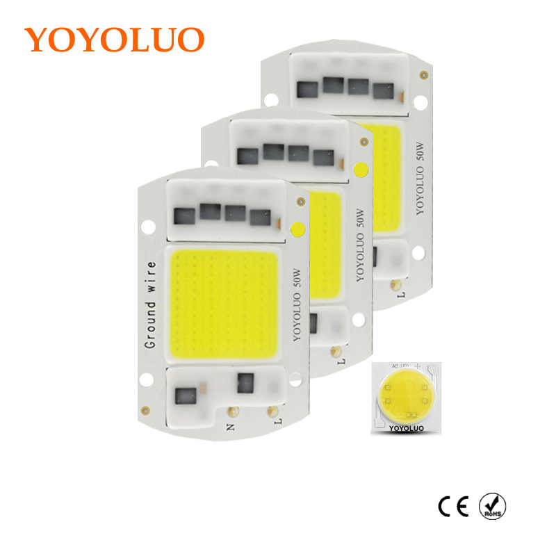 [YOYOLUO] AC220V 23V 240V Integrated COB LED Lamp Chip 50W 30W 20W 15W Smart IC Driver High Lumens For DIY Floodlight Spotlight