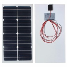 12V 20W Monocrystalline Solar Panels Battery Charger flexible Sunpower Solar Cells