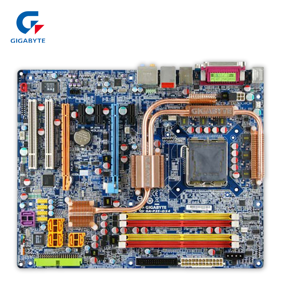 Original Gigabyte GA-P35-DS4 Desktop Motherboard P35-DS4 P35 LGA 775 DDR2 SATA2 ATX 100% Fully Test original gigabyte ga 945gzm s2 desktop motherboard 945gzm s2 945gz socket lga 775 ddr2 micro atx 100% fully test