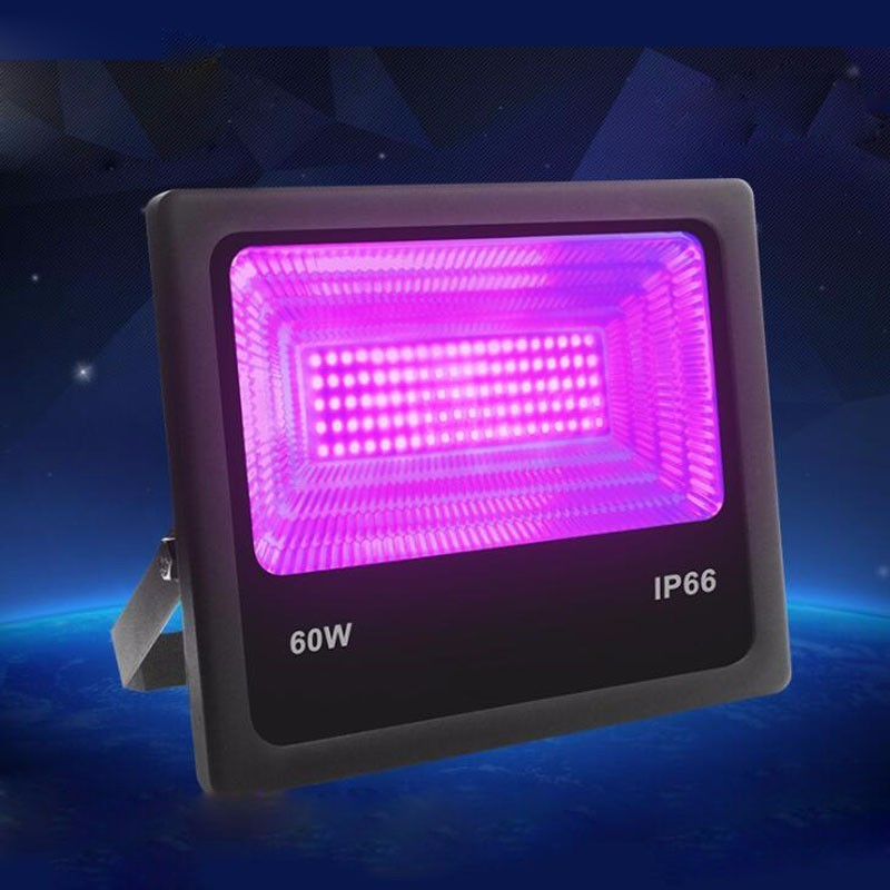 4pcs/lot 30W <font><b>60W</b></font> UV <font><b>LED</b></font> Black Light <font><b>Floodlight</b></font> Ultra-Violet Waterproof Ip66 Ktv Bar Haunted House Uv Fluorescence Effect Lamp image
