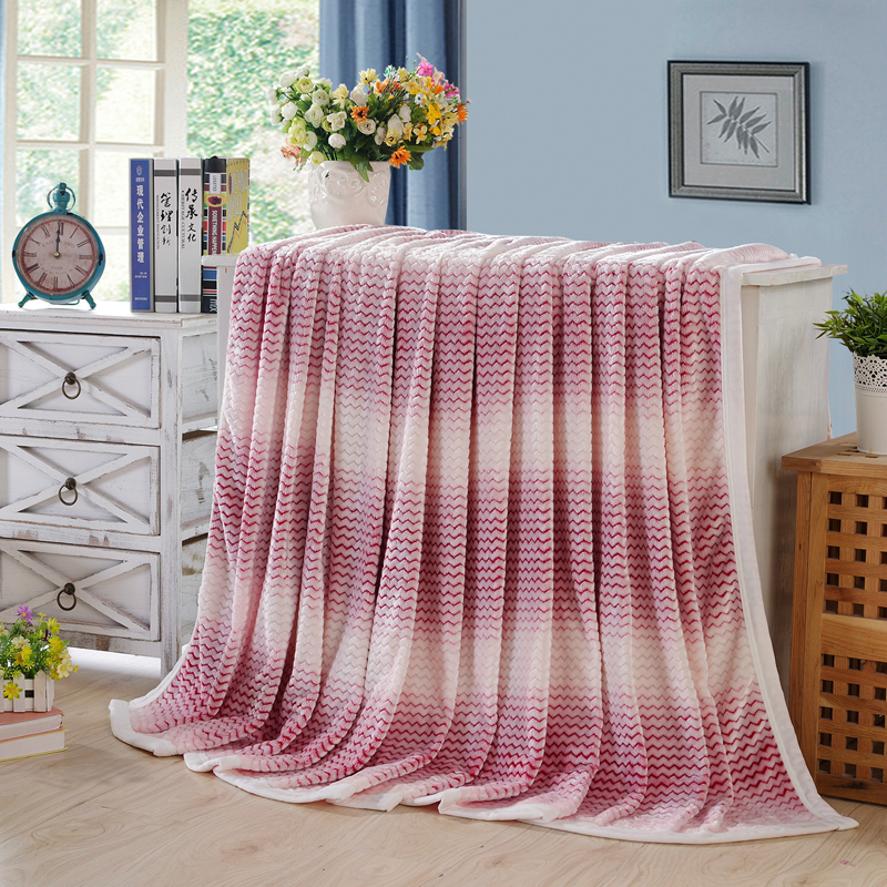 Double Layer Thickened Flannel Blanket Bedspread Throw Blankets