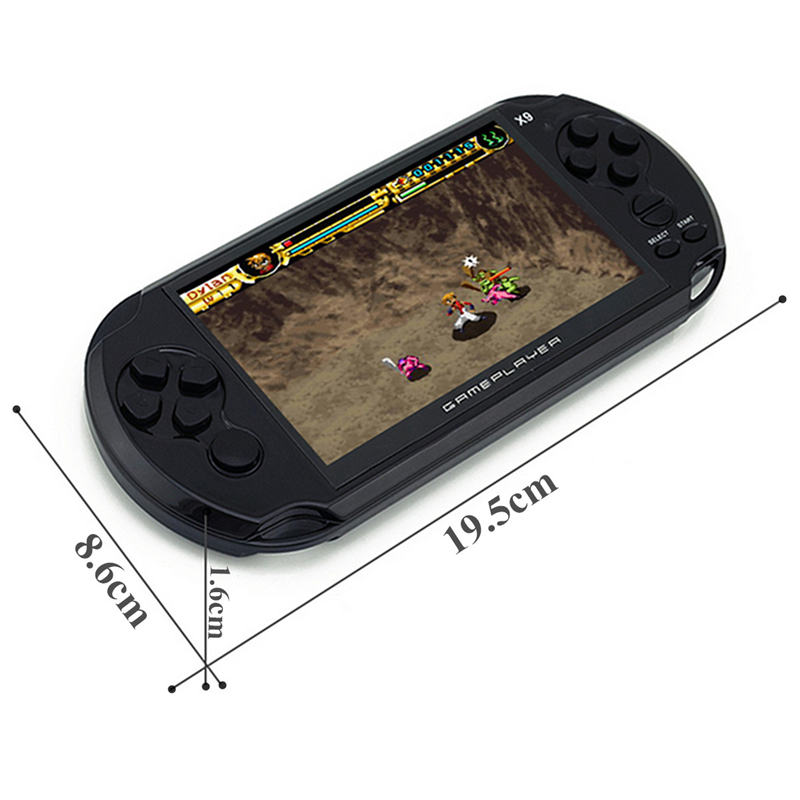 Handheld Game Player 5 inch Large Screen 8GB Memory with Camera Massive Classic Game Multiple Document Format Supported