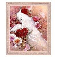 Diamond Mosaic Sale Flowers White Peacock DIY 5d Diamond Flowers Pictures Pictures Of Beads Coloring By