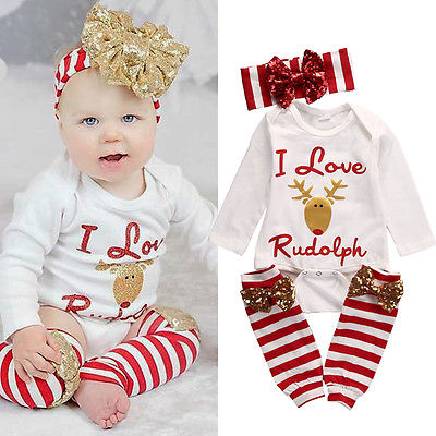 3pcs set newborn baby girl long sleeve rompe jumpsuit christmas outfits set children stuff clothes in clothing sets from mother kids on aliexpresscom - Girl Stuff For Christmas