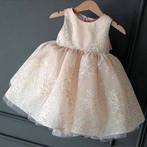 Image 5 - Childrens Wedding & party dress Flower Girl Dresses princess Girls O neck sleeveless print big bow Ball Gown Tutu Dress