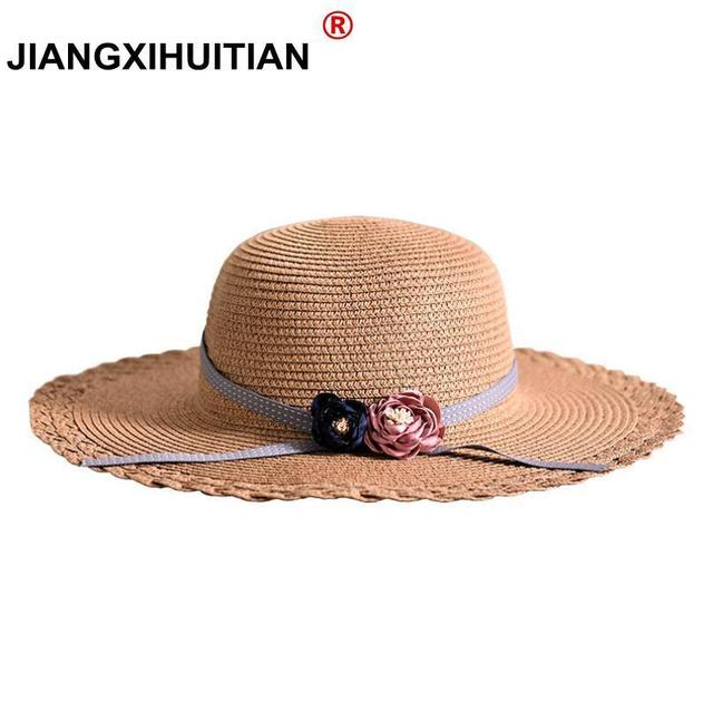 3de26278011 2018 new Spring Wholesale and Retail Fashion Women Wide Large Brim Floppy  Summer Beach Flowers Sun