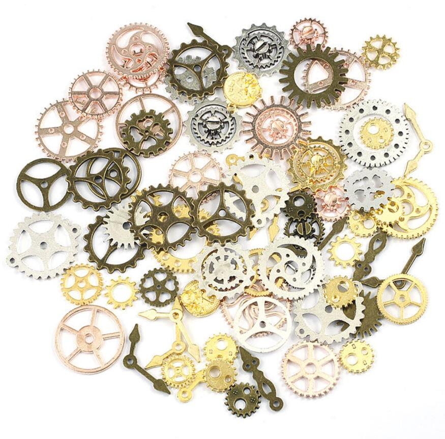50 г панк механика колеса Шестерни для наполнителя эпоксидной смолы кулон Цепочки и ожерелья ювелирные изделия делая телефон <font><b>Case</b></font> Craft DIY Интимн&#8230;