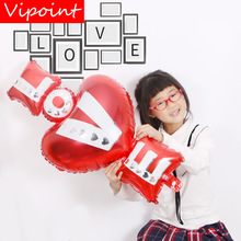 VIPOINT PARTY 97x45cm red love heart foil balloons wedding event christmas halloween festival birthday party HY-81 vipoint party love heart gridding and 5inch latex balloons wedding event christmas halloween festival birthday party hy 379