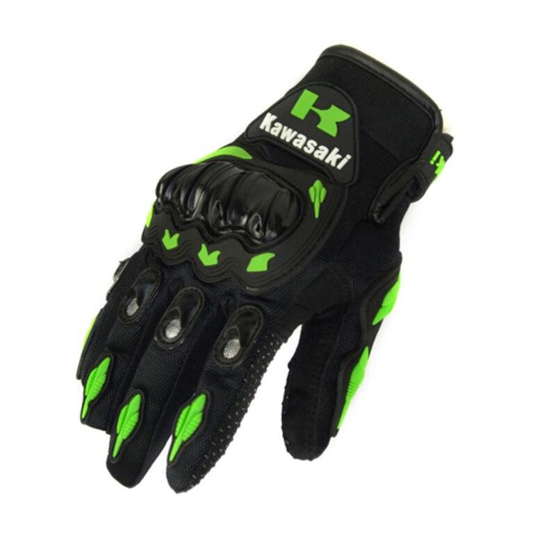 2016 venda quente 1 par kawasaki moda novo dedo cheio luvas da motocicleta motocross luvas guantes moto engrenagens de proteção luva